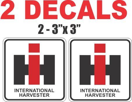 2 IH Iternational Harvester Decals