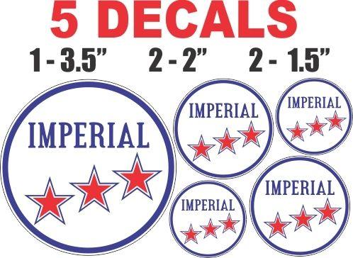 5 Imperial Gasoline Deca;s