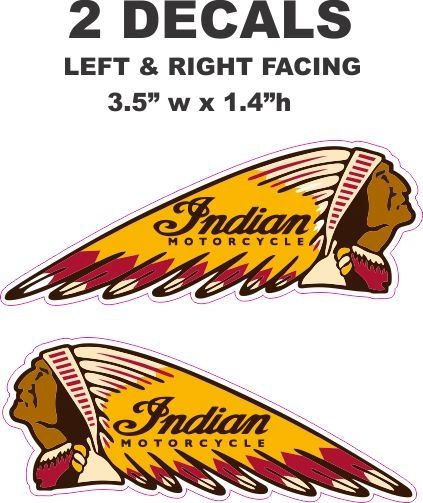 2 Indian Motorcycle Decxals