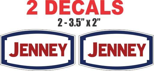 2 Jenney Gasoline Decals