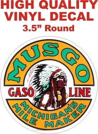 1 Musgo Michigan Mile Maker Gasoline Decal