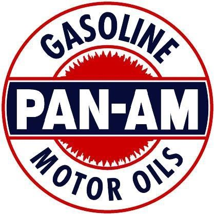 """1 Pan-Am Gasoline / Motor Oil Decal - 3.5"""" Round"""