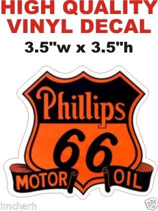 1 Phillips 66 Motor Oil Decals - Nice