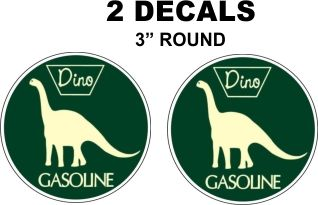 2 Dino Sinclair Gasoline Decals Very Nice