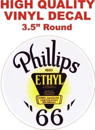 Vintage Style Phillips 66 Ethyl Round