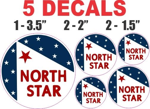 5 Northstar Gasoline Decals