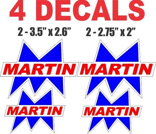4 Martin Gasoline Decals