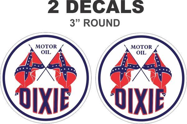 2 Dixie Motor Oil Decals