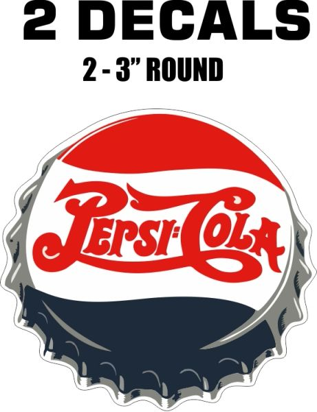 2 Pepsi decal - Very Nice