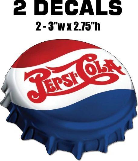 2 Vintage Style Pepsi Decals - Nice