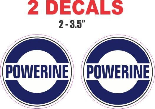 2 Powerine Gasoline Decals