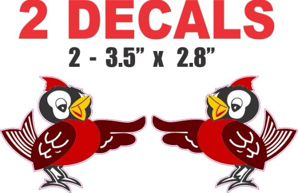 2 Decals Left and Right Facing Red Bird Gasoline