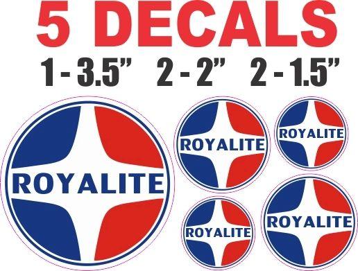 5 Royalite Gasoline Decals