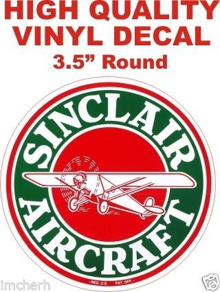 Sinclair Aircraft Decal - Very Nice