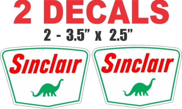 2 Sinclair Dino Decals - Very Nice
