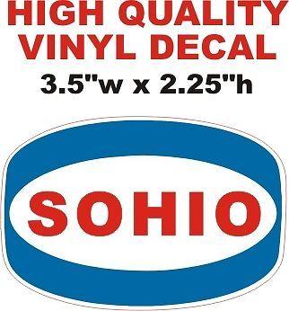Sohio Gasoline Decal = Nice