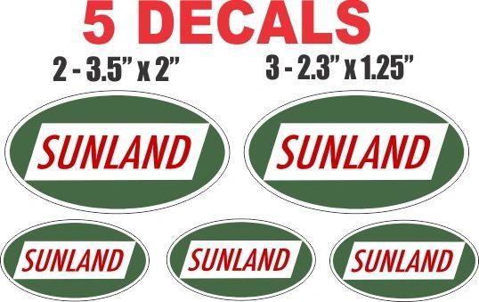 5 Sunland Gasoline Decals