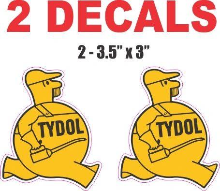 2 Tydol Man Oil Decals
