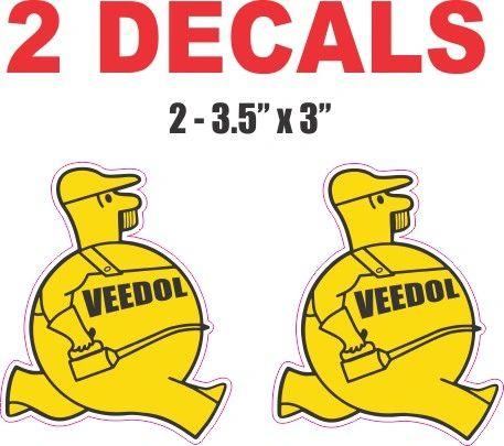 2 Veedol Man Oil Decals