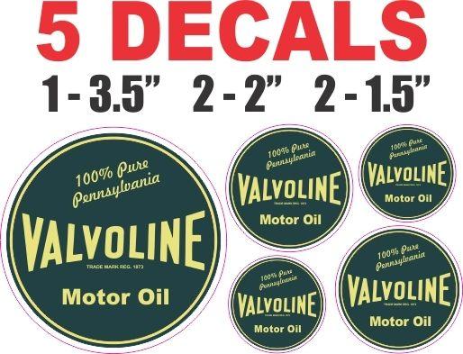 5 Valvoline Motor Oil Decals