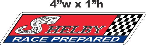 Shelby Race Prepared Decals