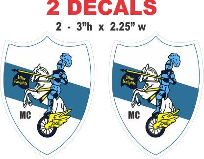 2 Blue Knights MC Decals