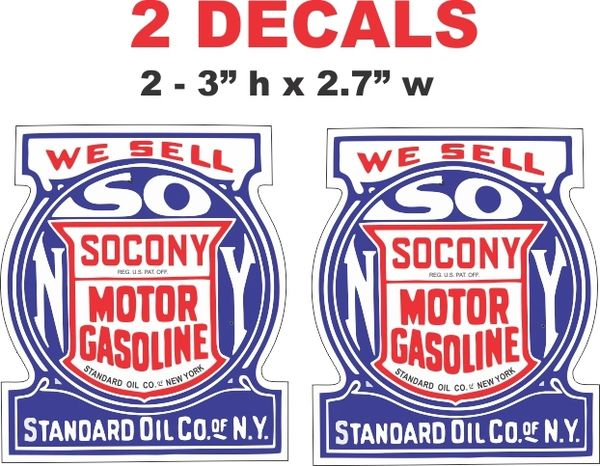 2 Standard Oil Company Socony - Die Cut To Shape