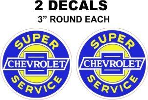 2 Super Chevrolet Service Decals - Sharp and risp