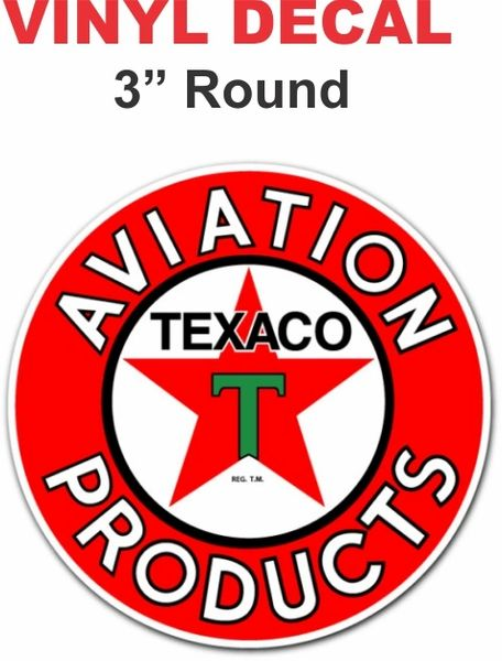 1 Texaco Aviation Products Gasoline Decal