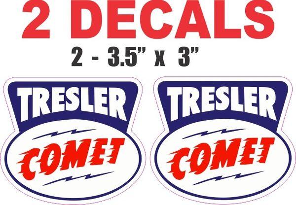 2 Tresler Comet Decals - Nice