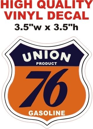 1 Union Product 76 Gasoline Decal