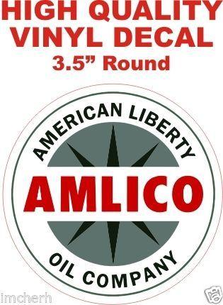 1 Amlico American Liberty Oil Company Gasoline Decal