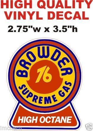 1 Browder 76 Supreme Gas Decal