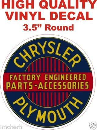 1 Chrysler Plymouth Parts and Accessories Decal