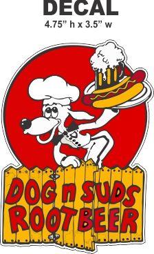 Dog N Suds Root Beer Decals