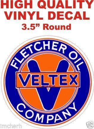 1 Veltex Fletcher Oil Company Decal