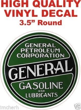 1 Vintage Style General Petroleum Gasoline and Lubricants