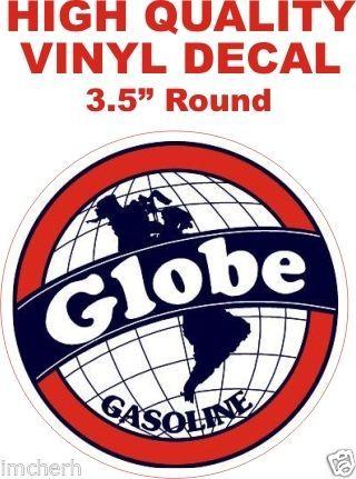 1 Vintage Globe Gasoline Decal