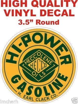 1 Vintage Style Hi-Power Gasoline H. Earl Clack Co.