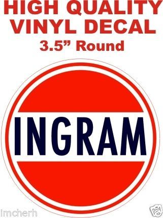 1 Vintage Style Ingram Gasoline Decal