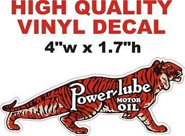 1 Vintage Style Power-Lube Motor Oil - Nice - Die Cut To Shape