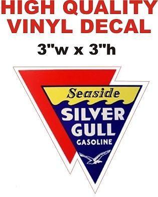 Vintage Style Seaside Silver Gull Gasoline