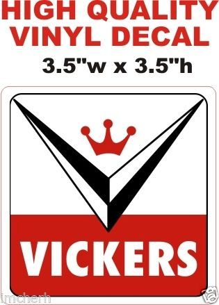 1 Vickers Decal - Sharp and Crisp