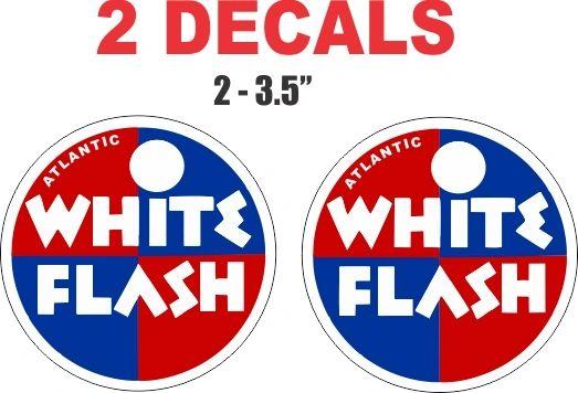 2 Atlantic White Flash Decals