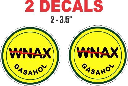 2 Wynax Gasahol Decals