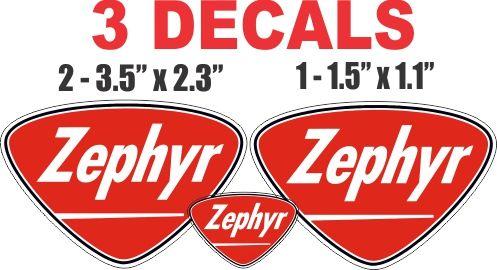 3 Zephyr Gasoline Decals