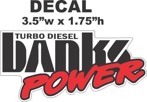 Banks Turbo Diesel Decal