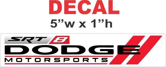Dodge Motorsport SRT 8 Decal