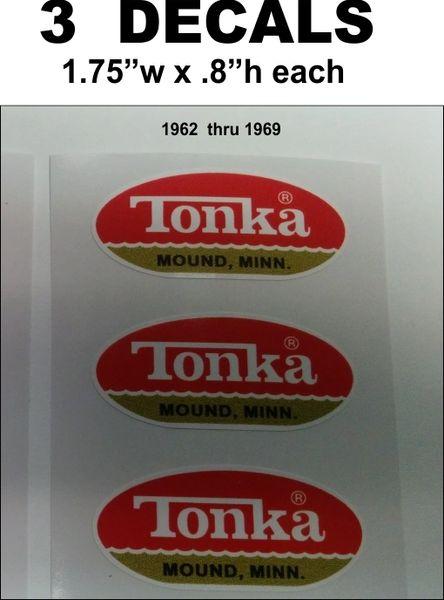 3 Red Gold Flat Bottom Tonka Mound Minn. 1962 thru 1969