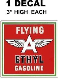 1 Flying A Ethyl Gasoline Decal - Nice